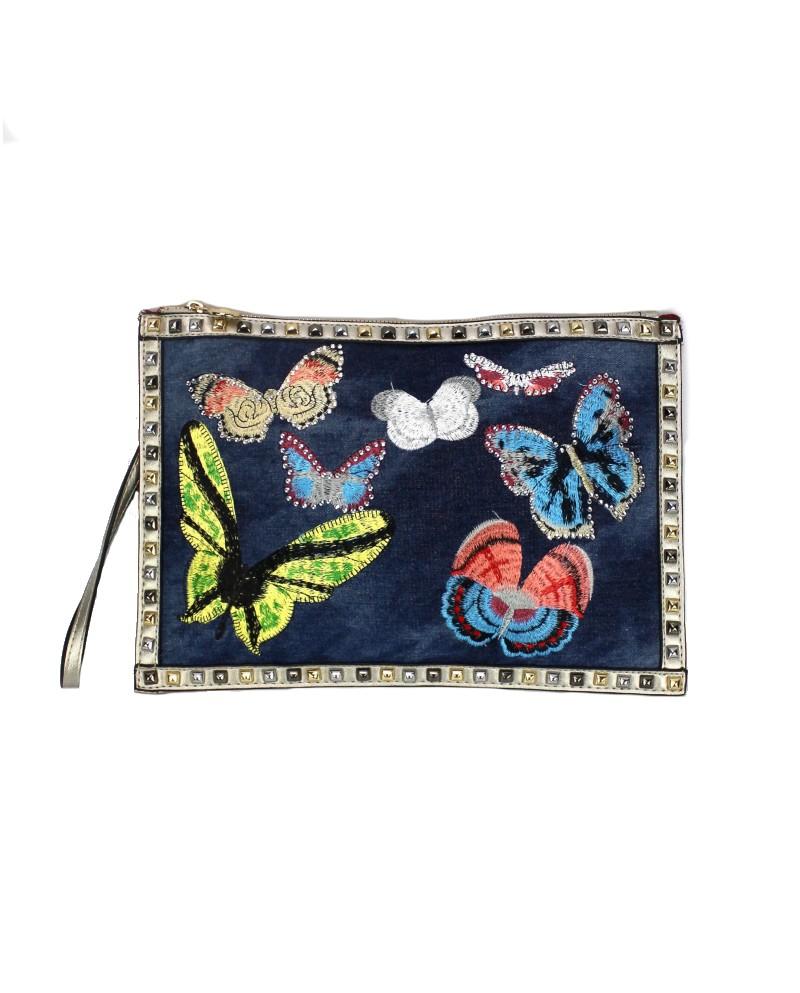 Pochette Papillons Jean's et Clous